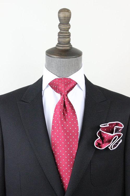 Deep Pink Pindot Tie