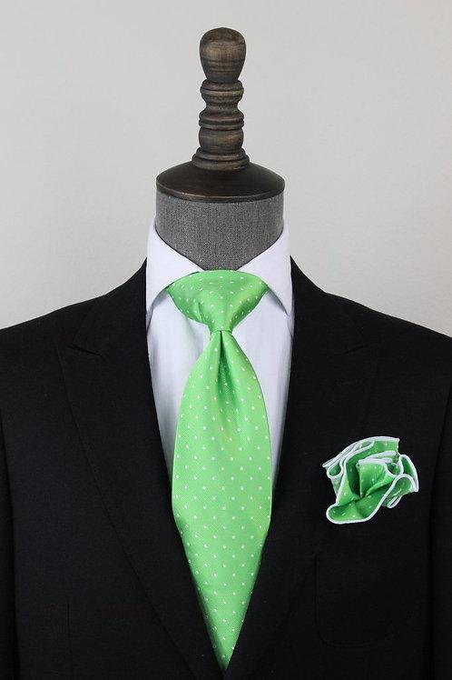 Neon Green Pindot Tie
