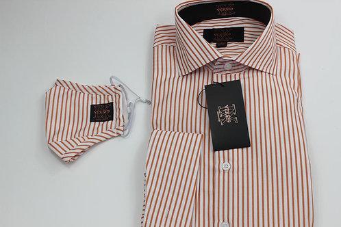 Orange Stripe Shirt with Mask