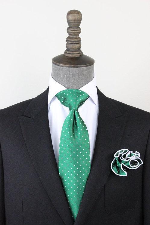 Green Pindot Tie