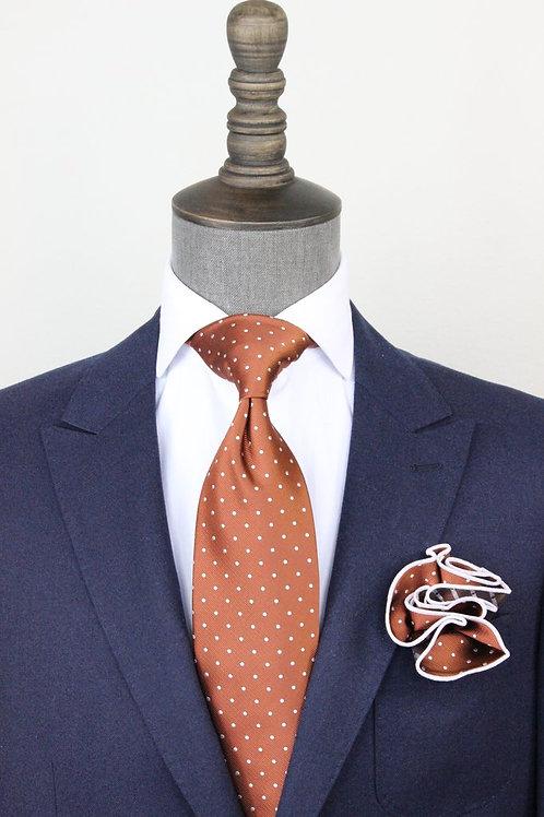 Pindot Copper Tie