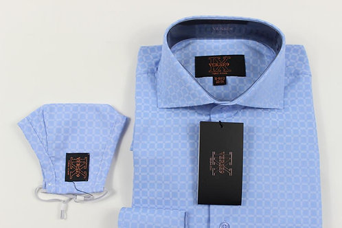 Blue Window Shirt with Mask