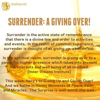 Surrender: A Giving Order!