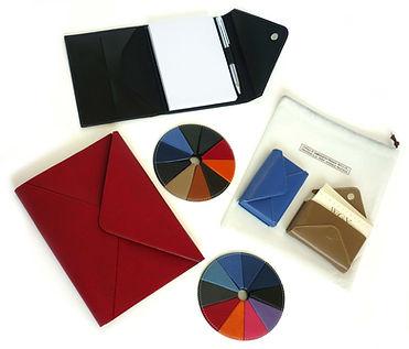 porte-cartes en cuir de synthèse ou vegan pour cadeau entreprise