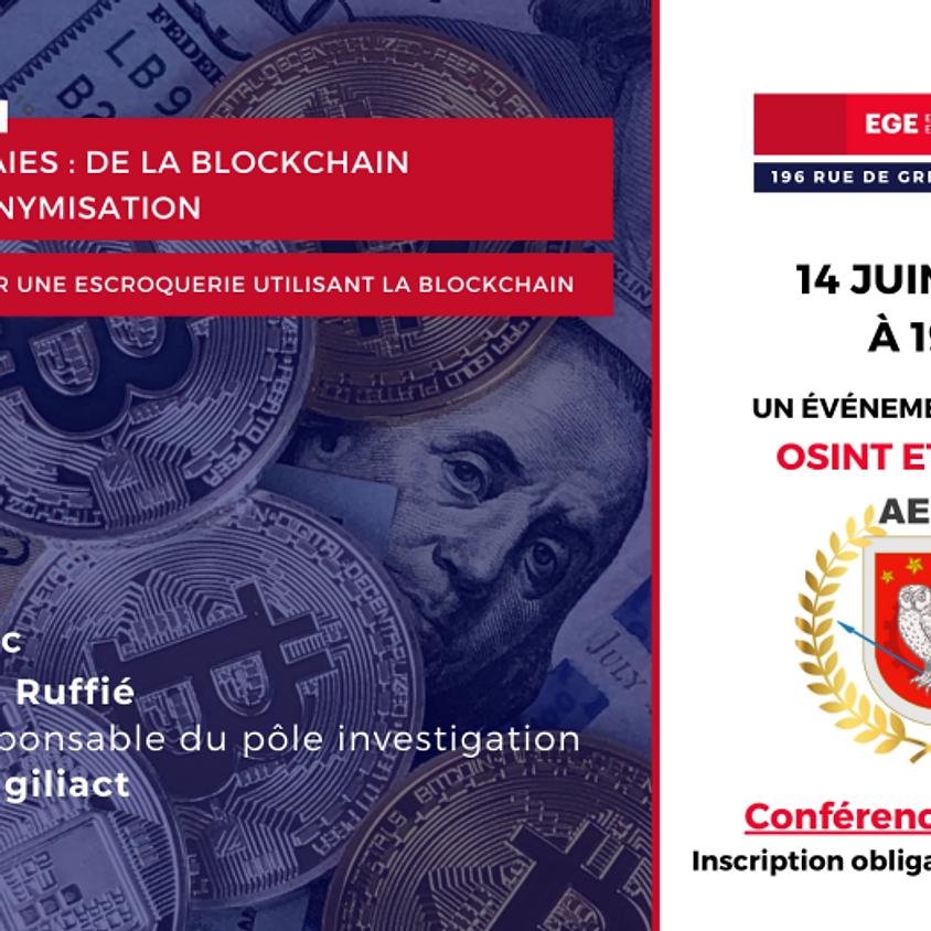 Cryptomonnaies : de la blockchain à la (dés)anonymisation