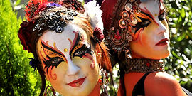 Spectacle de rue, art de rue, animation de rue, parade bodypainting, spectacle maquillage