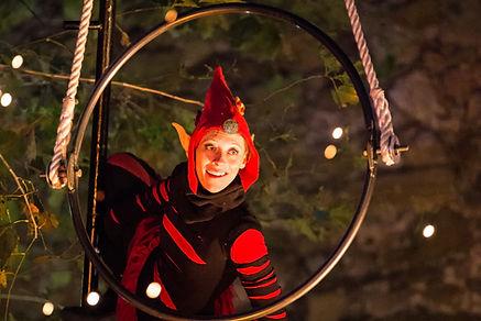 spectacle de rue, cirque, Noël