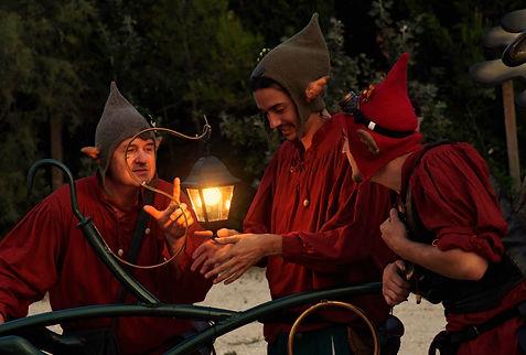 animation de nuit, Noël, lutins, spectale