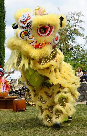 Danse du lion, acrobate chinois, dragon