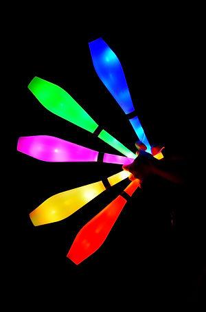 spectacle lumineux, soirée spectacle, led, cirque