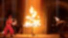 Spectale de feu, spectale pyrotechnique, spectacle de Noël