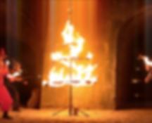 Spectacle de feu, aimatin de Noël