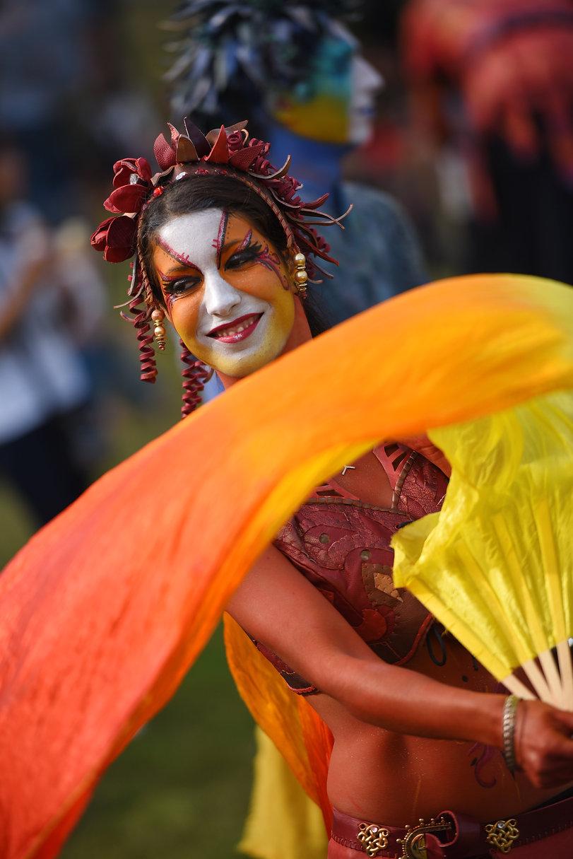 Spectacle de rue, animation, parade, carnaval, corso fleuri