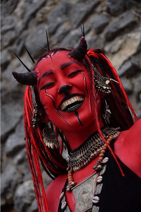 Diablesse, maquillage