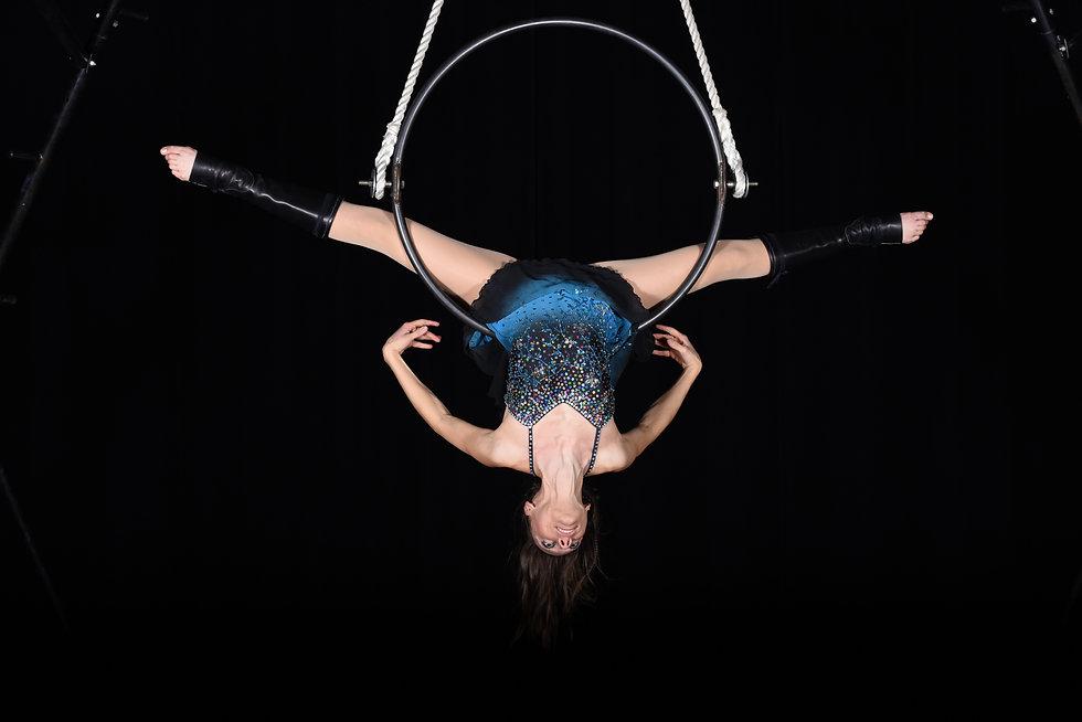 acrobate, aérien, cerceau