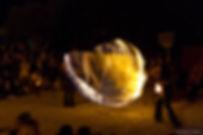 Spectacle de feu, boule de feu