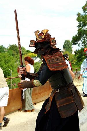 Spectacle costume samaouraï, guerrier japon