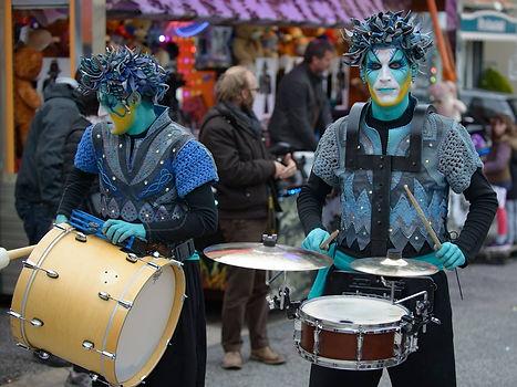musiciens de rue, batucada, fête, soukha