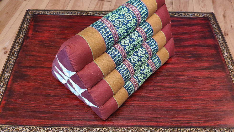 Thai pillows handmade Kapok cushion yoga triangle