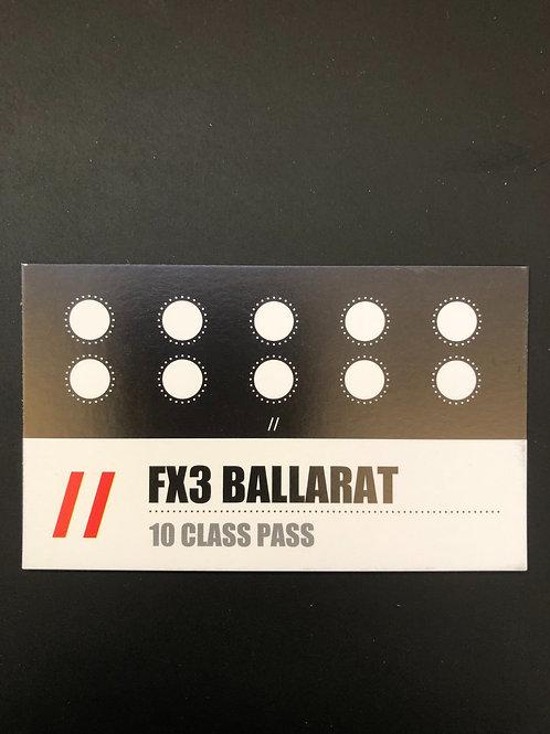 10 Session Pass- Ballarat only