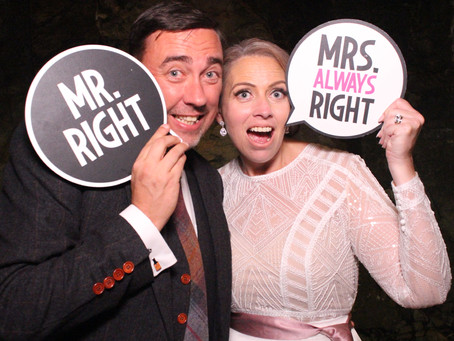 Mr and Mrs photobooth props
