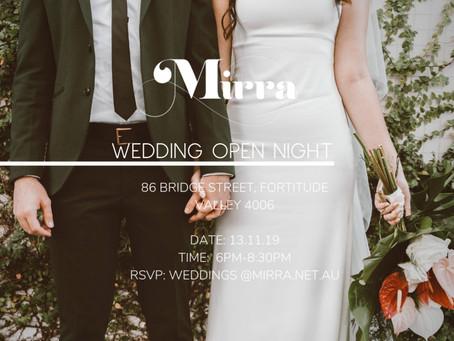 Open Night Mirra Events 2019