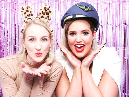 Tinsel backdrop with our photo booth hire