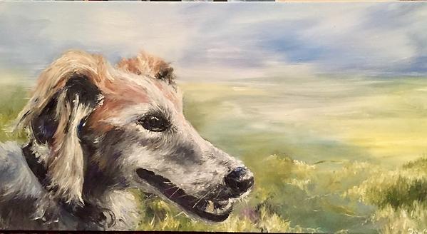 'Daisy', Oil on Canvas, 60x30cm, 2017