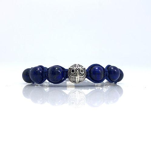 Lapis Lazul beads and SS925 owl beads