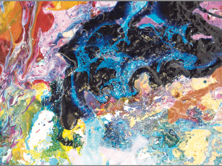 The Ascension of Mato tanka, 2009, mixed media on board, 40 X 40 inches, courtesy the artist. XO MAI