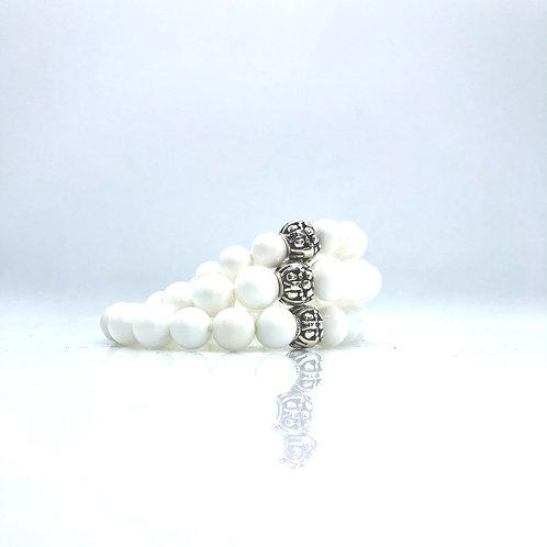 Agate white matching bracelet 8mm-10mm