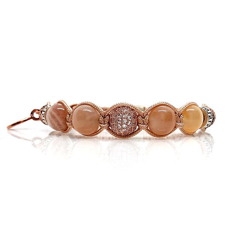 Sunstone beads and SS925