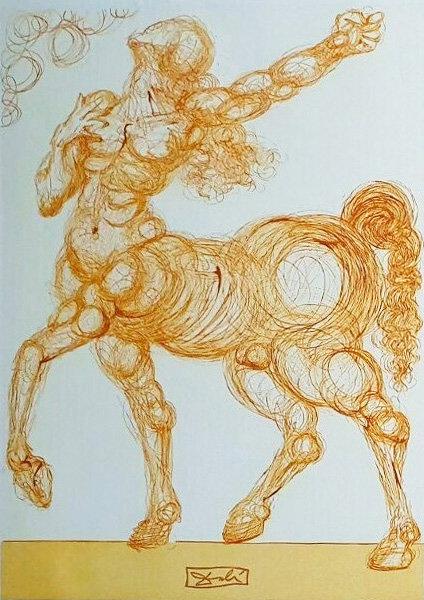 Salvador Dali - The Divine Comedy, Le Centaure (6/12)