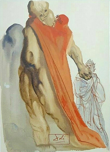 Salvador Dali - The Divine Comedy, Virgil's Reproaches (7/12)