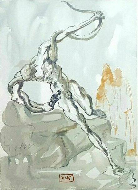 Salvador Dali - The Divine Comedy, Robbers (10/12)
