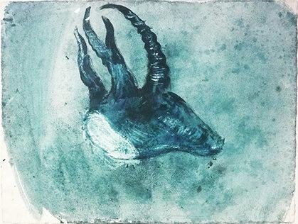 Miquel Barcelo - Cabeza de cabra