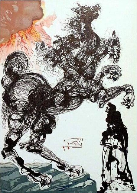Salvador Dali - The Divine Comedy, Cerbères - Inferno 06 (2/12)