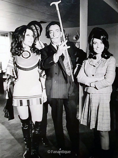 Salvador Dali - Photograph, TV interview Italy 1971