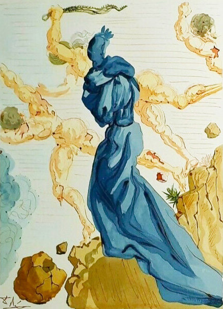 Salvador Dali - The Divine Comedy, The borders of Phlegethon (9/12)