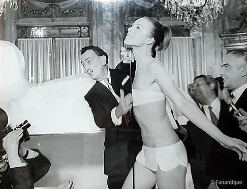 Salvador Dali - Photograph, Hotel Meurice Paris 1965
