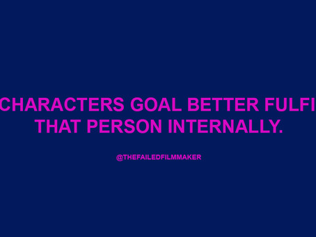 GIVE YOUR CHARACTERS CLEAR GOALS - PART ONE