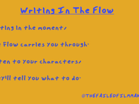LET THE FLOW CARRY YOUR WRITING