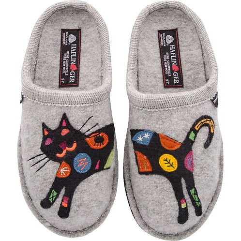 Haflinger AR Sassy Kitty Slipper Silver