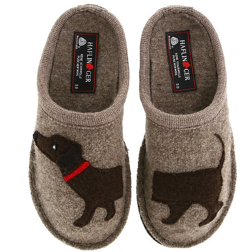 Haflinger AR Doggy Earth Slipper