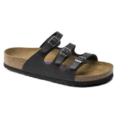 Florida Soft Footbed Oiled Leather, Black