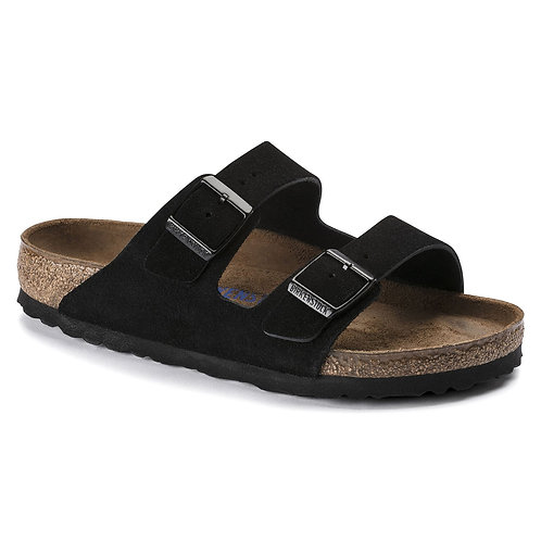 Arizona Soft Footbed Suede, Black