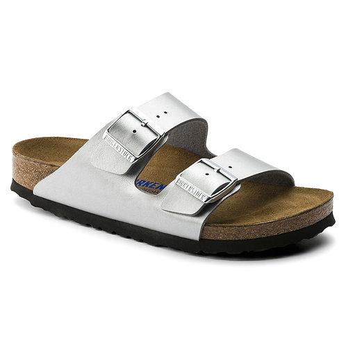 Arizona Soft Footbed Birko-Flor, Silver