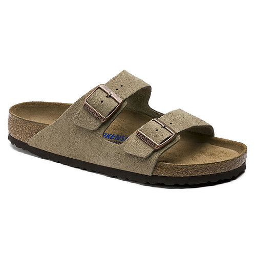 Arizona Soft Footbed Suede, Taupe