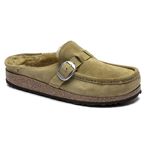 Buckley, Olive Suede Leather Shearling