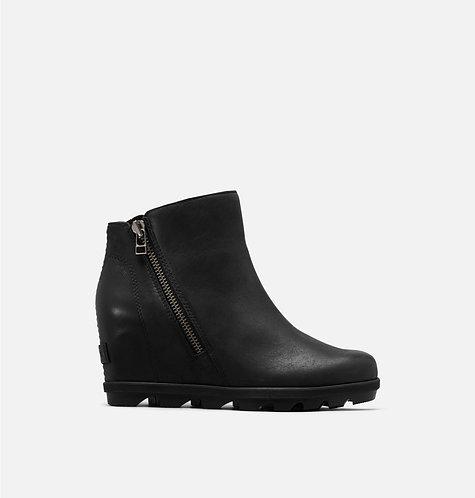 Sorel Joan of Artic Wedge II Zip Black Boot